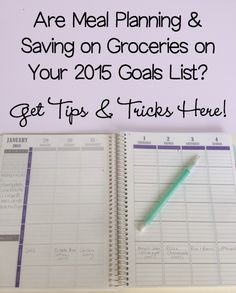 Are Meal Planning & Saving on Groceries on Your 2015 Goals List? | 5DollarDinners.com
