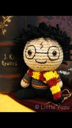 Cute Harry knitted doll! Many more patterns