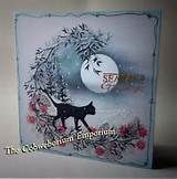 Seasons Greetings - handmade by Cobwebs, using (mainly) Card-io Stamps and ink pads. Cat Christmas Cards, Halloween Cards, Christmas Garden, Christmas Ideas, Inkylicious Cards, Cardio Cards, Lavinia Stamps Cards, Card Tags, Card Io