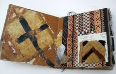 This sketchbook was made in response to research on ethnic and tribal textiles. Each double page spread uses surface decoration techniques to respond to patterns and textures in the textiles.