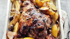Greek-style slow-roasted lamb
