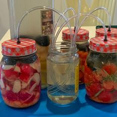 How to make airlocks for fermenting To improve the quality of your ferments… Fermentation Recipes, Canning Recipes, Probiotic Foods, Fermented Foods, Kombucha, Chutney, Kefir How To Make, Emergency Preparation, Dehydrated Food