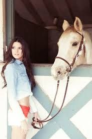 Image result for kendall jenner and horses
