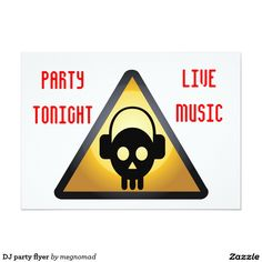 DJ party flyer 5x7 Paper Invitation Card