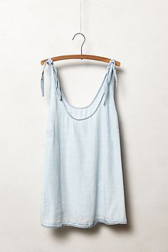 Tied Chambray Tank #anthropologie
