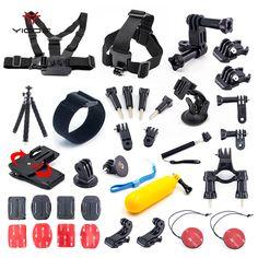 >> Click to Buy << Set Kit Mount Tripod Strap Monopod Clip Bag for Gopro Accessories Go pro hero 5 4 3 Session SJCAM SJ4 Xiaomi yi 4k Action Camera #Affiliate