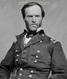 Portrait of famous Civil War General William Tecumseh Sherman. Sherman was serving in the Army in California at the time of the 1848 gold discovery and was witness to the early days of the gold rush. He resigned from the Army in 1853 and went to San Francisco as a senior partner in the bank, Lucas, Turner & Co. The financial panic of 1857 put an end to his banking career and he left California.