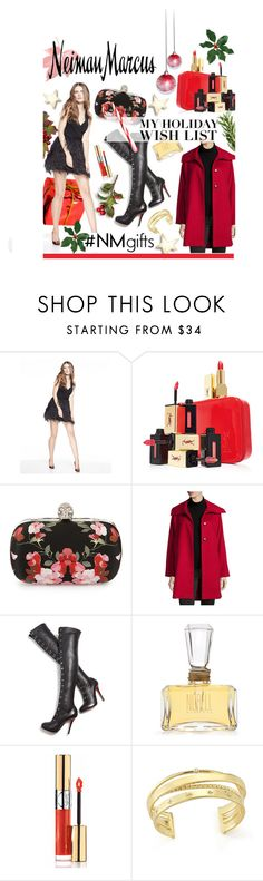 """The Holiday Wish List With Neiman Marcus: Contest Entry"" by hellodollface ❤ liked on Polyvore featuring Alice + Olivia, Yves Saint Laurent, Alexander McQueen, Jane Post, Christian Louboutin, Norell, Neiman Marcus, Elizabeth and James and NMgifts"