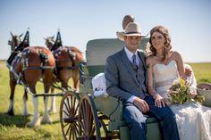 Western Style Barn Wedding: Mallory + Matt