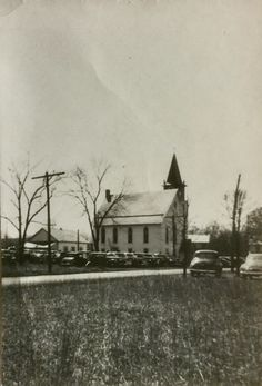 "Ridge Valley Evangelical and Reformed Church, as the denomination was called when this photo was taken.  Notice the cars! Henry Ford once was quoted as saying ""A customer can have any color car, as long as it is black"".  Must have been true."