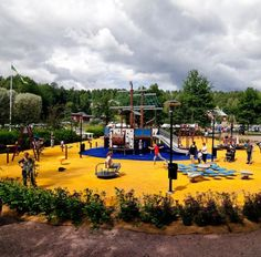 Fiskars playground lies right in the heart of the village and was designed by one of the world's leading manufacturers of playgrounds, Lappset, together with families in Fiskars Village. Holiday Resort, Helsinki, Finland, Most Beautiful, Dolores Park, Playgrounds, World, Families, Travel