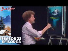 Bob Ross - Reflections of Gold (Season 23 Episode Pinturas Bob Ross, Bob Ross Youtube, The Joy Of Painting, Painting Art, Encaustic Painting, Line Bob Haircut, Best Bobs, Waterfall Paintings, Bob Ross Paintings