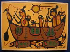 >>> Norval Morrisseau Facts, Articles & Art: Migration by Norval Morrisseau - The Royal Ontario Museum Collection Native American Images, Native American Artists, Canadian Artists, Inuit Kunst, Inuit Art, Kunst Der Aborigines, Indian Contemporary Art, Royal Ontario Museum, Woodland Art