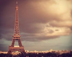 Eiffel Tower at Sunset, Fine Art Paris Photography, France, Romantic, Autumn Colors, Travel- City Of Light on Etsy, $30.00