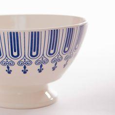 Nordic Bowl - Blue Stripes Medium