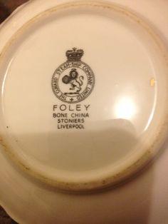Cunard shell dish markings