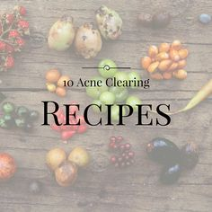5 acne clearing food recipes to help you heal breakouts from the inside, out! Heal acne naturally with food, with Jill Therese at Heal Your Face With Food!