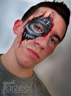 Paint Body Ideas: Kurt Drake of Wolfe Face Art & FX creates art . Male Makeup, Glowy Makeup, Sfx Makeup, Joker Makeup, Horror Makeup, Maquillage Halloween, Halloween Makeup, Kids Face Painting Easy, Pretty Halloween