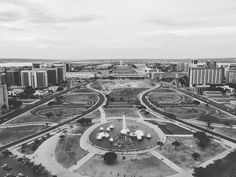 Brasilia from the TV tower . . . . . #tower #bw #mobile #igersbrasil #igersbrasilia #architecture #brasilia #nopeople by Patrick Silveira