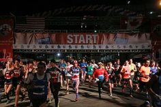 Runners leave the starting line during the 2013 Detroit Free Press/Talmer Bank Marathon in Detroit on Sunday, Oct. Detroit Free Press, Marathon, Runners, Sunday, Photography, Hallways, Fotografie, Photograph, Joggers