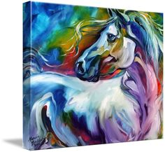 """""""MYSTIC POWER EQUINE"""" by Marcia Baldwin, Shreveport, Louisiana // From my original abstract paintings of horses. This original is sold and in a private collection. Please enjoy fine art prints here on Imagekind. // Imagekind.com -- Buy stunning fine art prints, framed prints and canvas prints directly from independent working artists and photographers."""