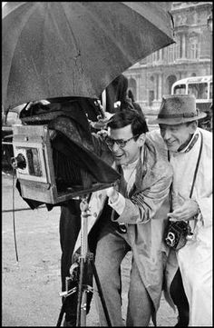 "The Tuileries Gardens, Paris. Richard Avedon, advising Fred Astaire on his role as a photographer in ""Funny Face"", basically playing Avedon. by David Seymour    What we do :)"