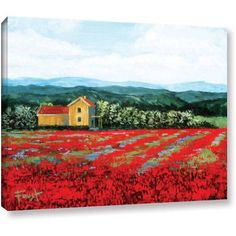 ArtWall Gene Foust Paradise Gallery-Wrapped Canvas Art, Size: 24 x 32, Green