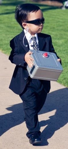 cute bodyguard of the ring for a wedding ring bearer