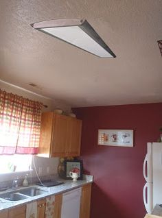 How To Replace Fluorescent Lighting With A Pendant Fixture Kitchen Ceiling Lights Laundry
