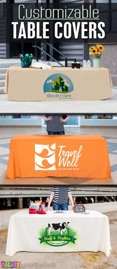Customizable table covers can be used for any occasion, business or school! We can print your logo, school name or event info on high-quality 300 Denier Polyester! We offer a variety of sizes and colors to compliment any event, stand out in the crowd while making a professional impact! Use coupon code PINNER10 and receive 10% off your table cover or table runner order! Not valid on trade show packages or with other coupon codes, expires April 4, 2017. #tablecover