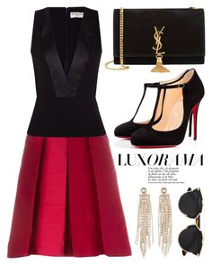 """""""Jan 6th (tfp)"""" by boxthoughts ❤ liked on Polyvore featuring Marc, CÉLINE, Balenciaga, Christian Louboutin, Yves Saint Laurent, Charlotte Russe, Christian Dior, women's clothing, women and female"""
