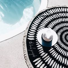 The Tulum Roundie is made from super soft cotton and feels luxurious. It has a plush velour top for comfortable lounging and a terry reverse side to quickly absorb water...the perfect poolside companion // via @fashionablybroke
