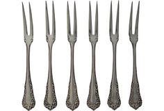 Sterling Silver Berry Forks, Set of 6