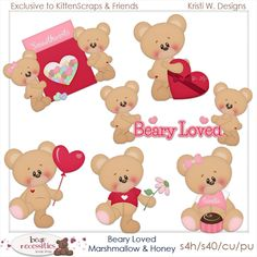 Beary Loved Marshmallow & Honey Exclusive to Store Templates{CU} Kitten Scraps