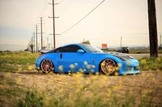 Bright blue and beautiful. #Nissan #350Z - Photo: Dosh F. Owner: Bryan N.