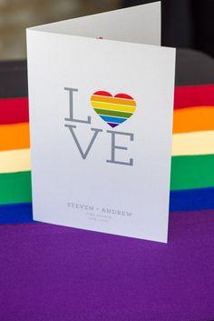 Rainbow wedding program | Ohio Rainbow-Themed Gay Wedding | Equally Wed - LGBTQ Weddings