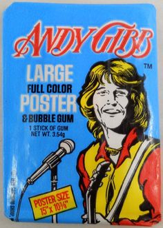 1978 Andy Gibb Poster & Bubble Gum