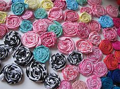 Frayed Rosettes | Free Pattern Club | YouCanMakeThis.com - How to make fabric flowers for embellishments
