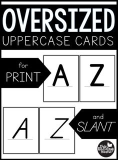 Oversized Uppercase Letter Cards - This Reading Mama Printable Alphabet Letters, Alphabet Cards, Letter Recognition Games, Alphabet Activities, Letter Sounds, Teaching Reading, Learn To Read, Reading Comprehension, Elementary Schools