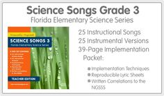Florida Science Songs Grade 3 - Musically Aligned - Standards-Based Educational Music - www.musicallyaligned.com