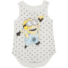 Despicable Me Girls' Minion Graphic Tank ($50) ❤ liked on Polyvore