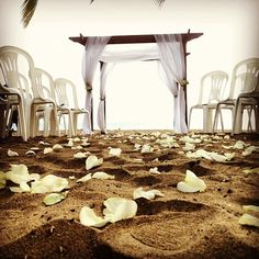 Beach ceremony - Rincon, Puerto Rico by Ocasiones Event Planning www.ocasiones.us