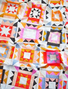 Nova Star Quilt - the Ruby Star Society one – Then Came June Patchwork Quilt Patterns, Modern Quilt Patterns, Star Patterns, Modern Quilting, Modern Quilt Blocks, Patchwork Fabric, Patchwork Designs, Block Patterns, Quilting Fabric