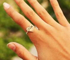 love this initial heart ring