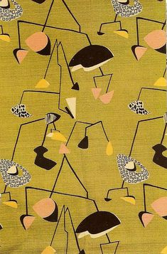 Eames Era, Mid Century Modern Fabric that I would kill to have~!