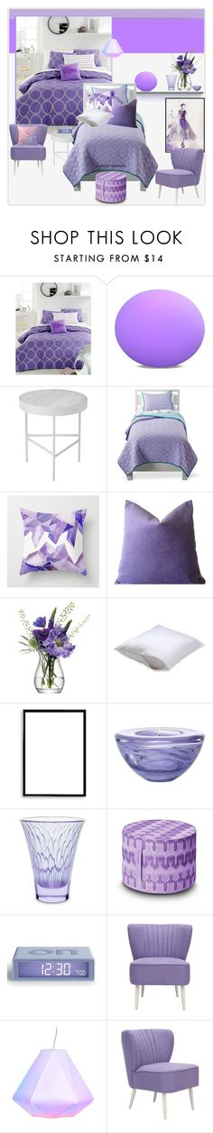 """Lilac Bedroom"" by rainie-minnie ❤ liked on Polyvore featuring interior, interiors, interior design, home, home decor, interior decorating, Lacoste, ferm LIVING, Circo and LSA International"