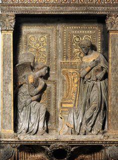 Donatello, Annunciation c. 1435 Gilded pietra serena, 218 x 168 cm Santa Croce, Florence