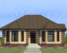 5 Bedroom House Plans, House Plans Mansion, My House Plans, Bungalow House Plans, Family House Plans, Country House Plans, House Roof, House Floor Plans, Cute House