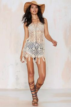 Matina Crochet Dress - Sale: 60% Off and Up   Dresses