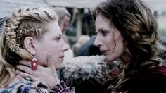 lagertha & siggy, always cool to see bad ass women appreciating each other, this feels a little like the dynamic between Catelyn and Brienne in GOT